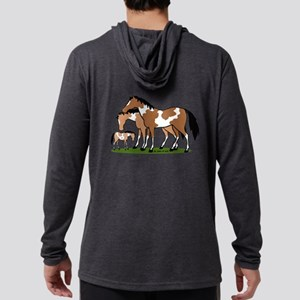 Happy Indian Horses Mens Hooded Shirt