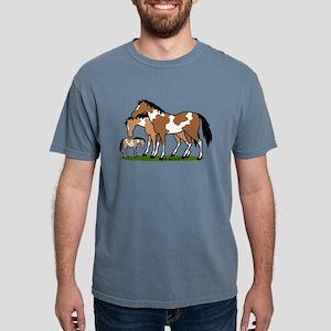 Happy Indian Horses Mens Comfort Colors Shirt
