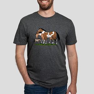Happy Indian Horses Mens Tri-blend T-Shirt