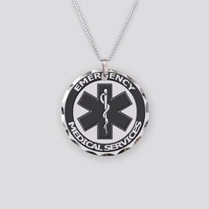 EMS logo with transparent bo Necklace Circle Charm