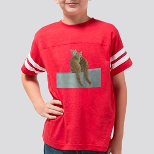 Two Orange Cats Youth Football Shirt