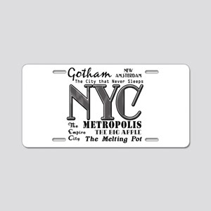 New York City with Nicknames Aluminum License Plat