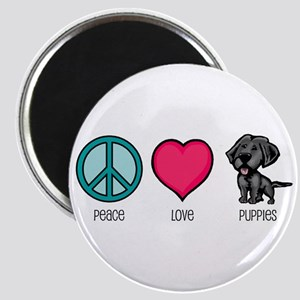 Peace Love & Puppies Magnet