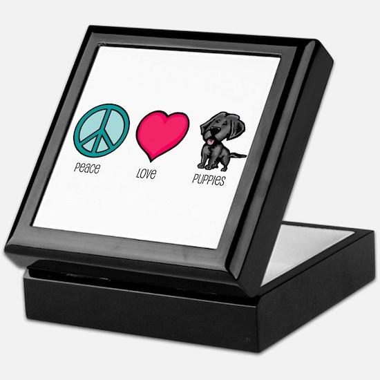 Peace Love & Puppies Keepsake Box