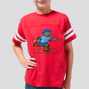 Rollerblading tiles Youth Football Shirt