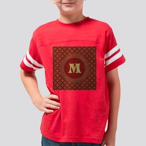Personalized Red and Gold Fil Youth Football Shirt