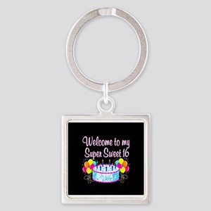 SUPER SWEET 16 Square Keychain