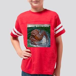 Spider Funny Web Browser iPho Youth Football Shirt