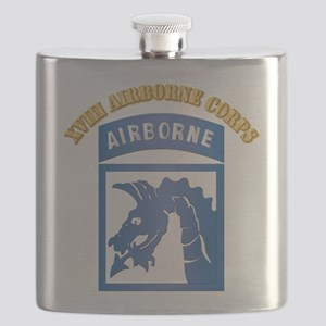 SSI - XVIII Airborne Corps with Text Flask