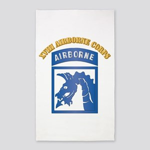 SSI - XVIII Airborne Corps with Text 3'x5' Area Ru