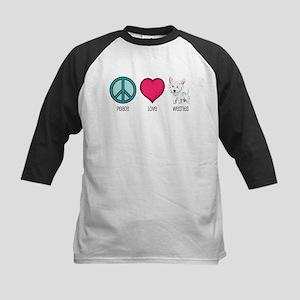 Peace Love & Westies Kids Baseball Jersey