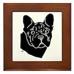 Frenchie Pup Framed Tile