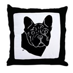 Frenchie Pup Throw Pillow