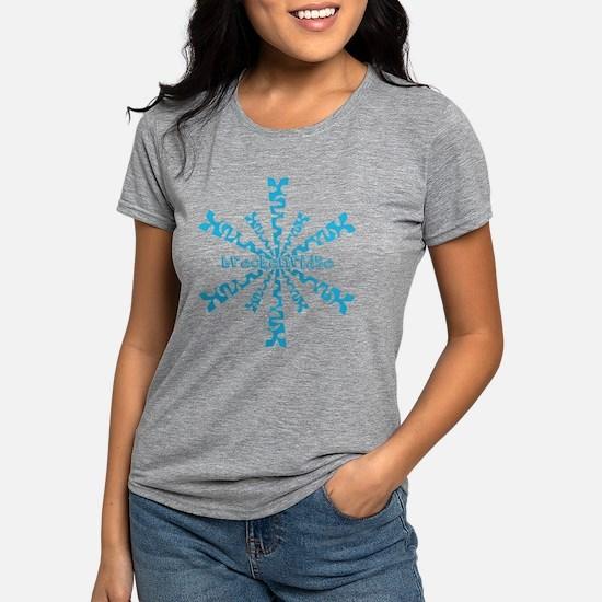 Snow sports Womens Tri-blend T-Shirt