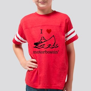 motorboatiniheartblk Youth Football Shirt