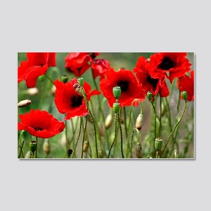 Poppy-Red Poppies 20x12 Wall Decal