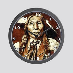 Wolf Robe - Cheyenne Wall Clock