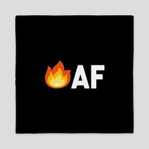 Lit AF Fire Emoji Queen Duvet