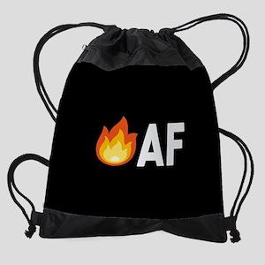 Lit AF Fire Emoji Drawstring Bag