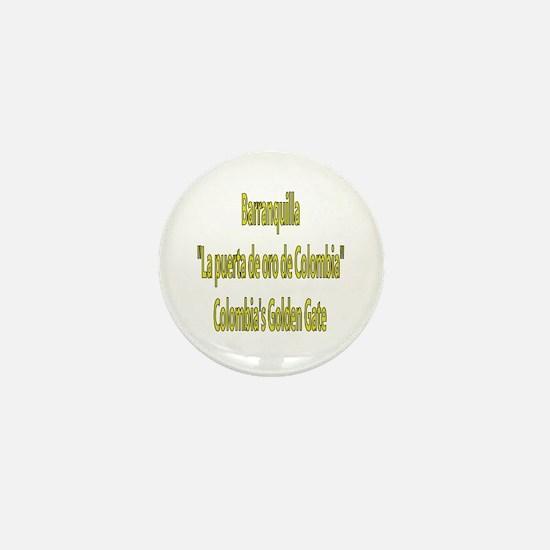 Barranquilla Colombia Mini Button