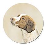 Brittany Round Car Magnet