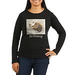 Brittany Women's Long Sleeve Dark T-Shirt
