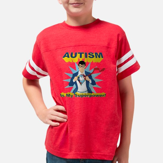 Autism is my Superpower! Youth Football Shirt