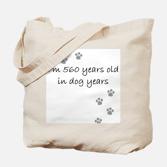 80 dog years 2-1.JPG Tote Bag