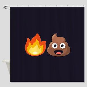 Hot Shit Emoji Shower Curtain