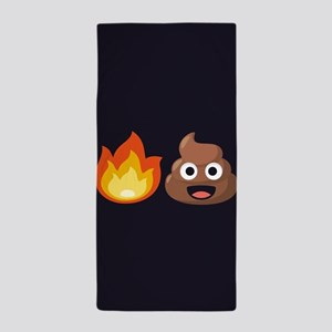 Hot Shit Emoji Beach Towel