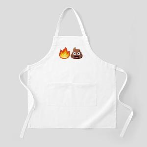 Hot Shit Emoji Light Apron