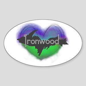 UP Aurora Ironwood Sticker (Oval)