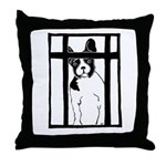 Let Me In! Throw Pillow