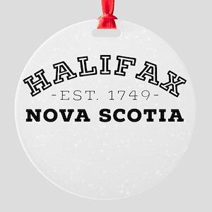 Halifax Nova Scotia Round Ornament
