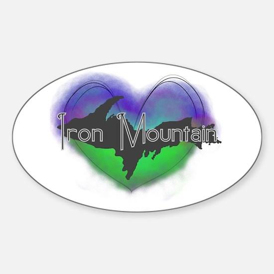 Aurora Iron Mt. Sticker (Oval)