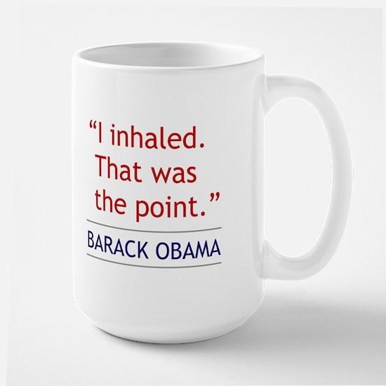 "Barack Obama Quote - ""I Inhaled"" Mug"