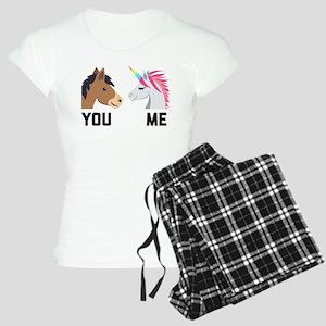 You VS Me Unicorn Emoji Women's Light Pajamas