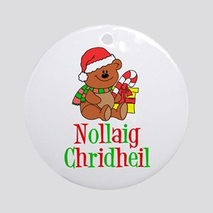 Nollaig Chridheil Ornament (Round)