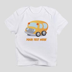 Personalized School Bus Infant T-Shirt
