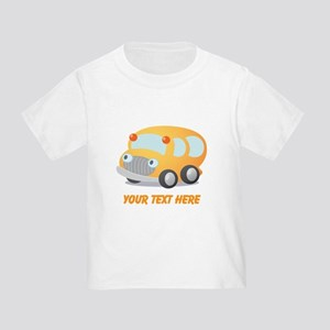 Personalized School Bus Toddler T-Shirt