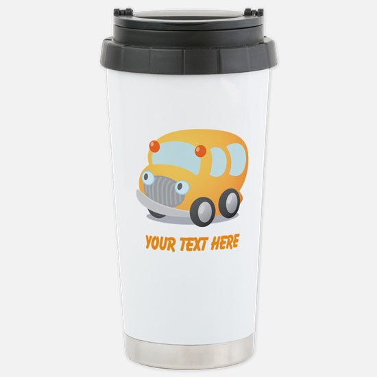 Personalized School Bus Stainless Steel Travel Mug