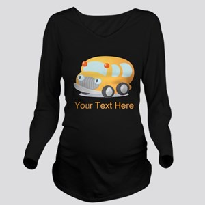 Personalized School Bus Long Sleeve Maternity T-Sh