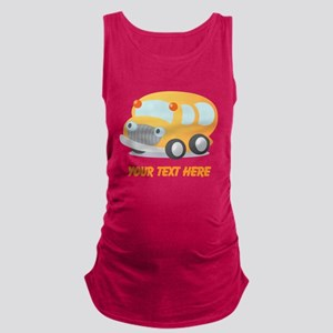 Personalized School Bus Maternity Tank Top