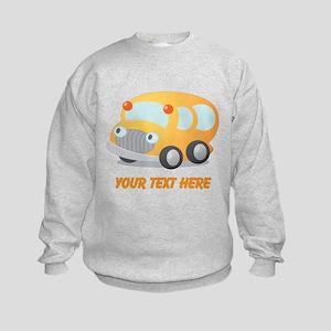 Personalized School Bus Kids Sweatshirt