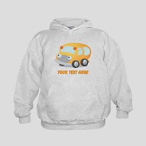 Personalized School Bus Kids Hoodie