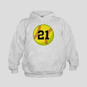 Softball Sports Personalized Kids Hoodie