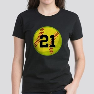Softball Sports Personalized Women's Dark T-Shirt