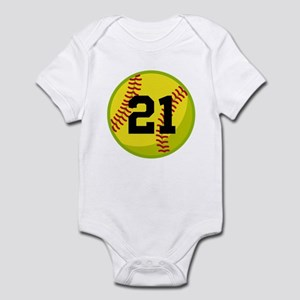 Softball Sports Personalized Infant Bodysuit