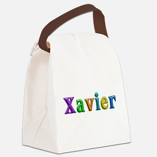 Xavier Shiny Colors Canvas Lunch Bag