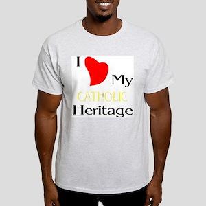 Catholic Heritage Ash Grey T-Shirt